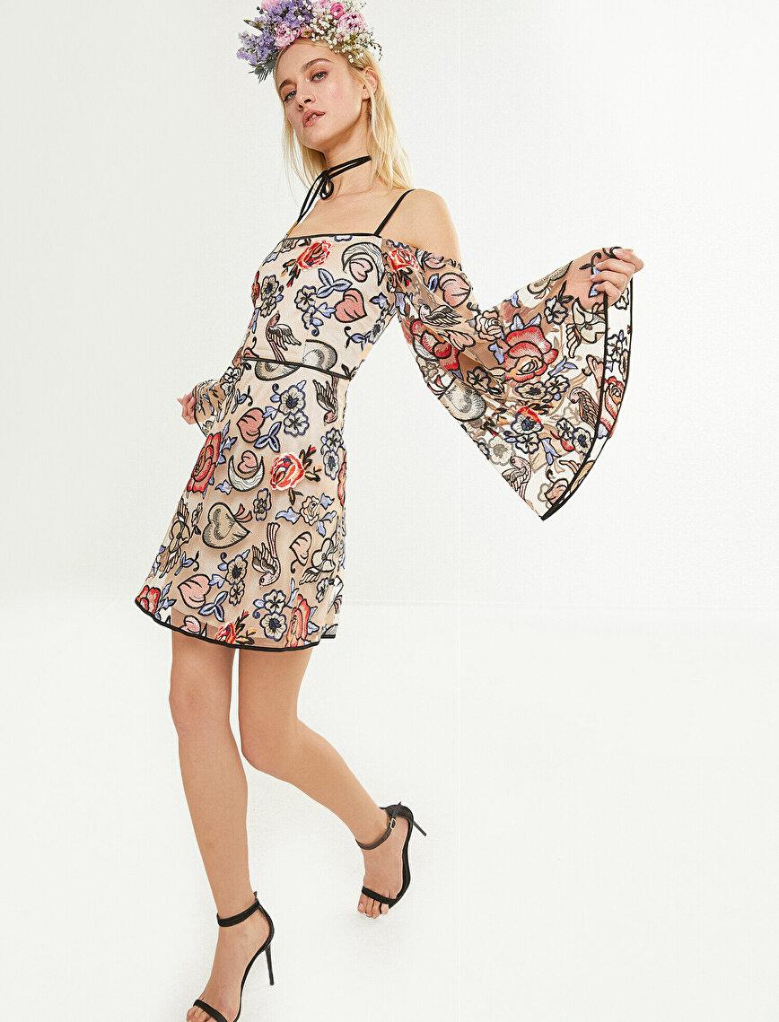 Zeynep Tosun For Koton Çiçek Desenli Elbise