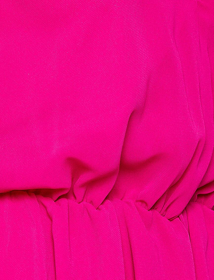 Back Detailed V Neck Dress
