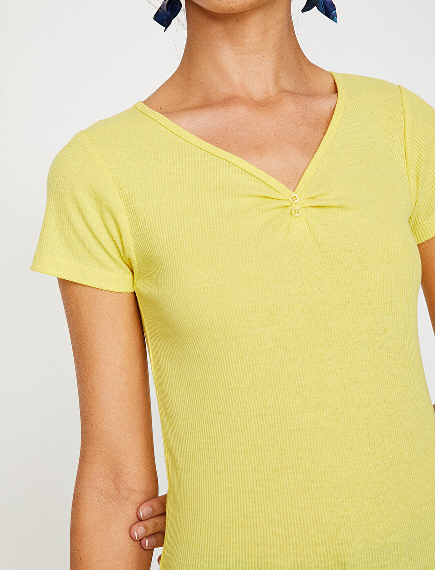 Button Detailed T-Shirt
