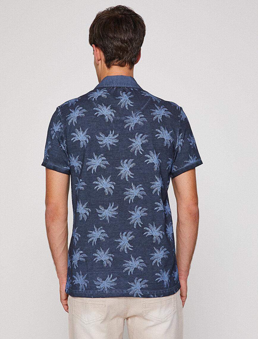 Polo Yaka Desenli T-Shirt