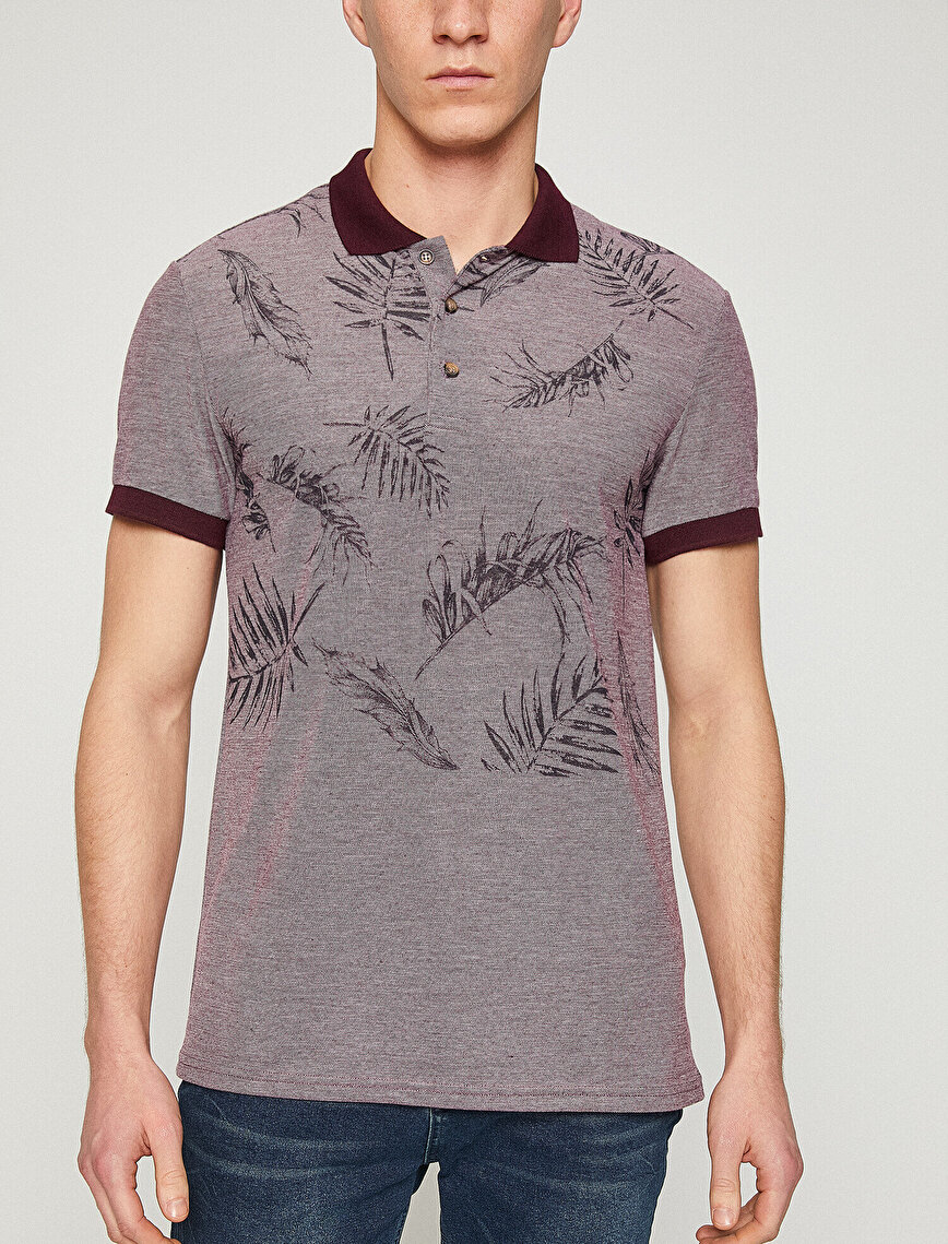 Polo Neck Patterned T-Shirt