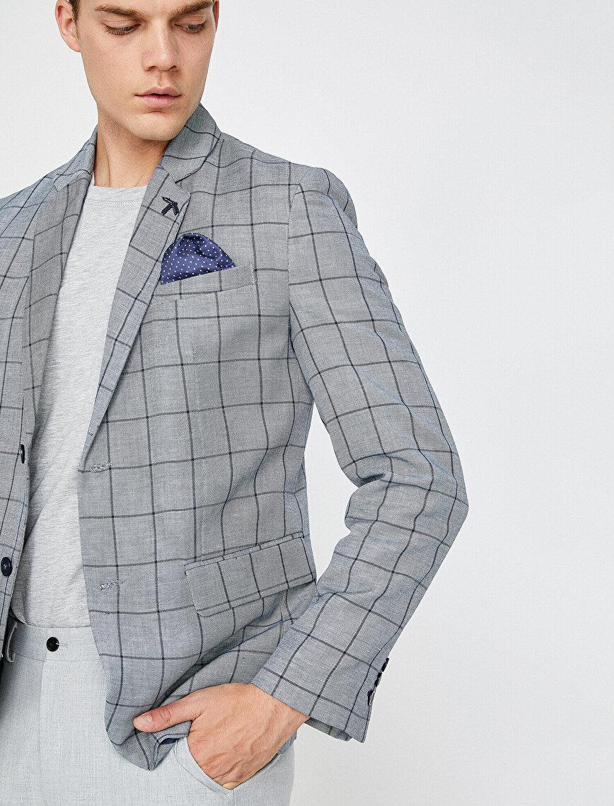 Kareli Blazer Ceket