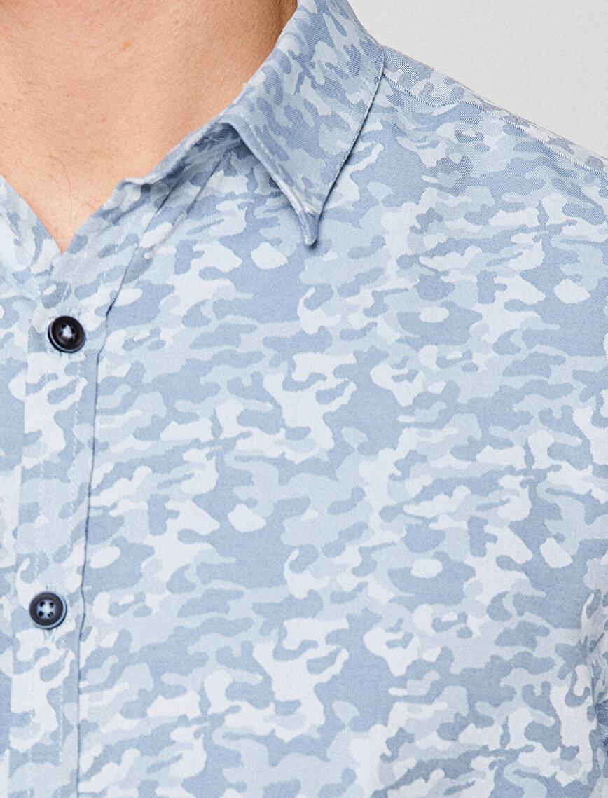 Kamuflaj Desenli Gömlek