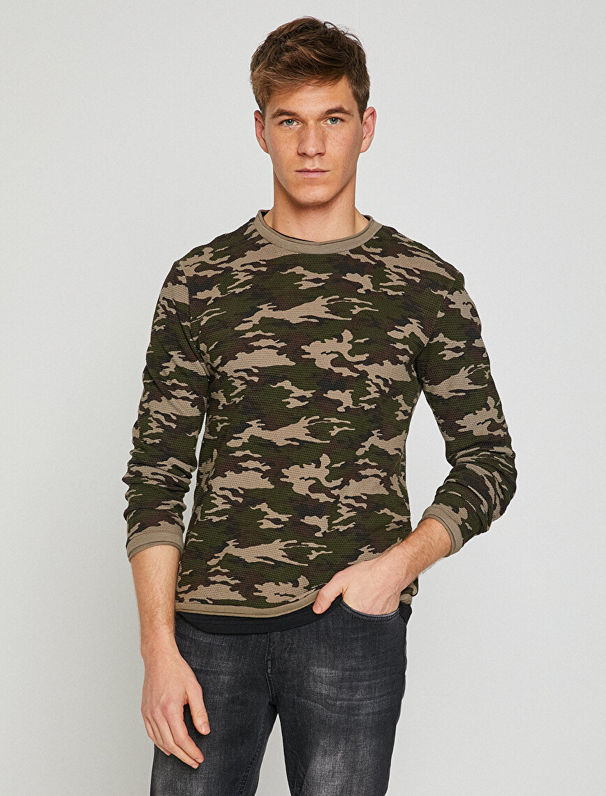 Camouflage Patterned Jumper