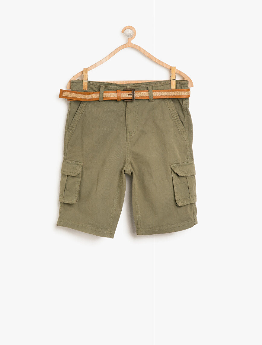 Belt Detailed Shorts