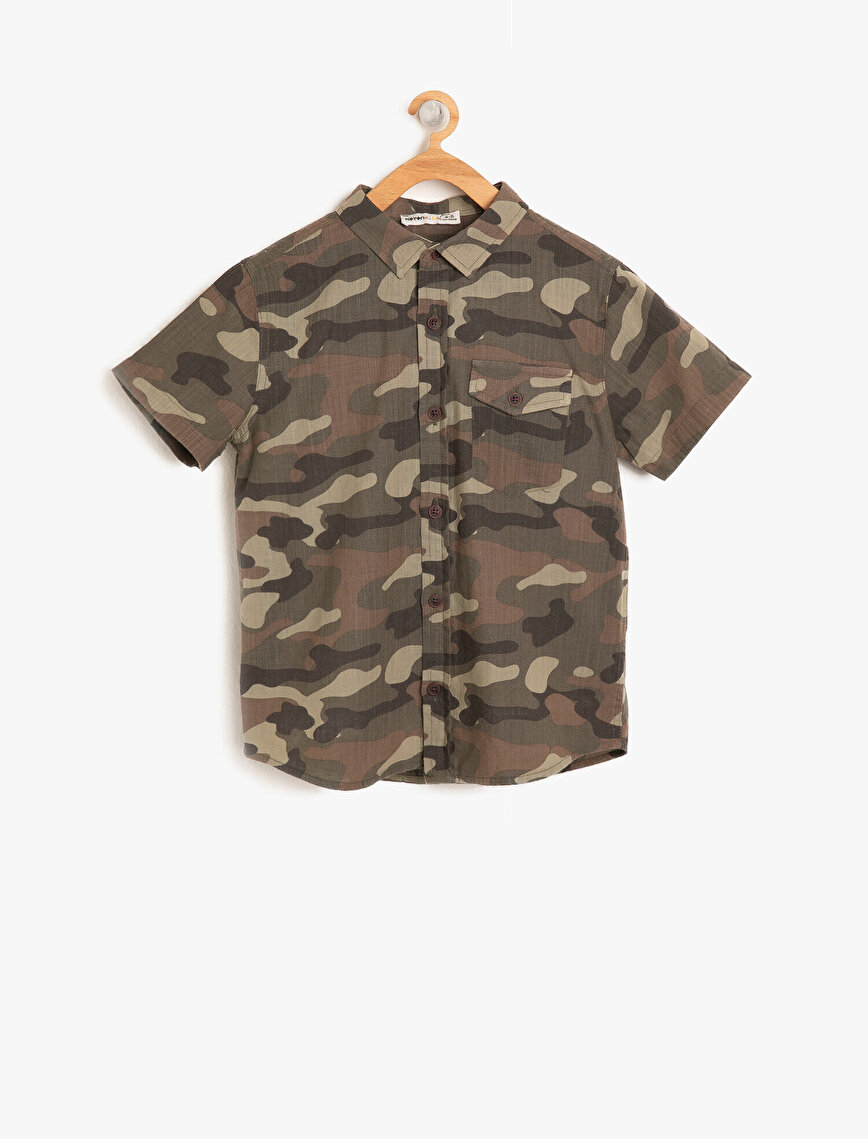 Camuflage Patterned Shirt