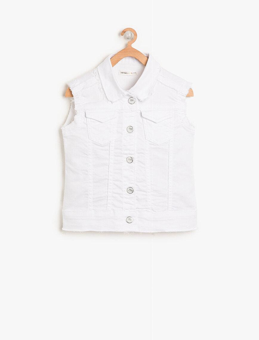 Pocket Detailed Jean Vest