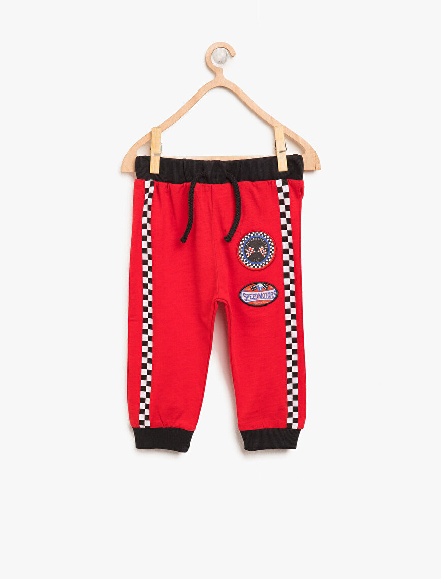Emblem Detailed Jogging Pants