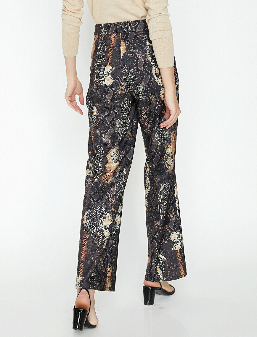 Snake Patterned Trousers