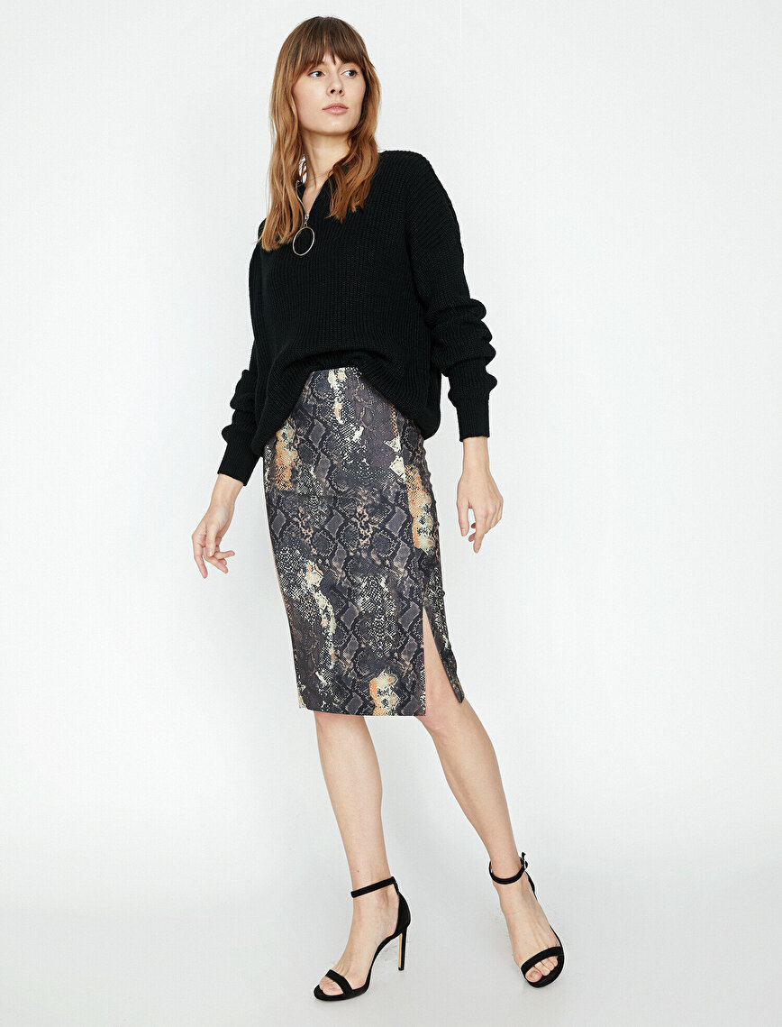 Snake Patterned Skirt
