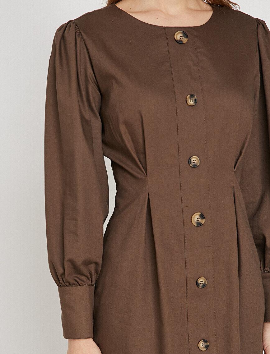 Button Detaled Dress