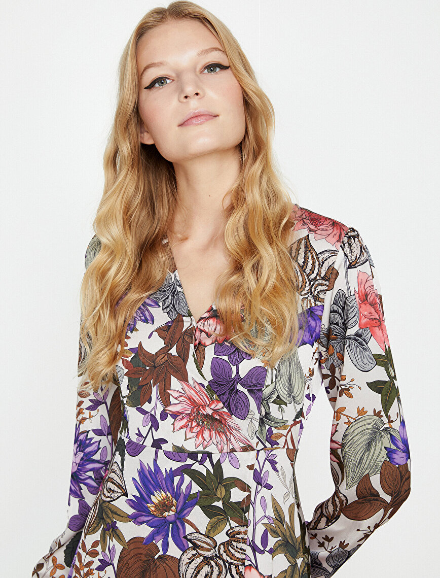 Floral Detailed Dress