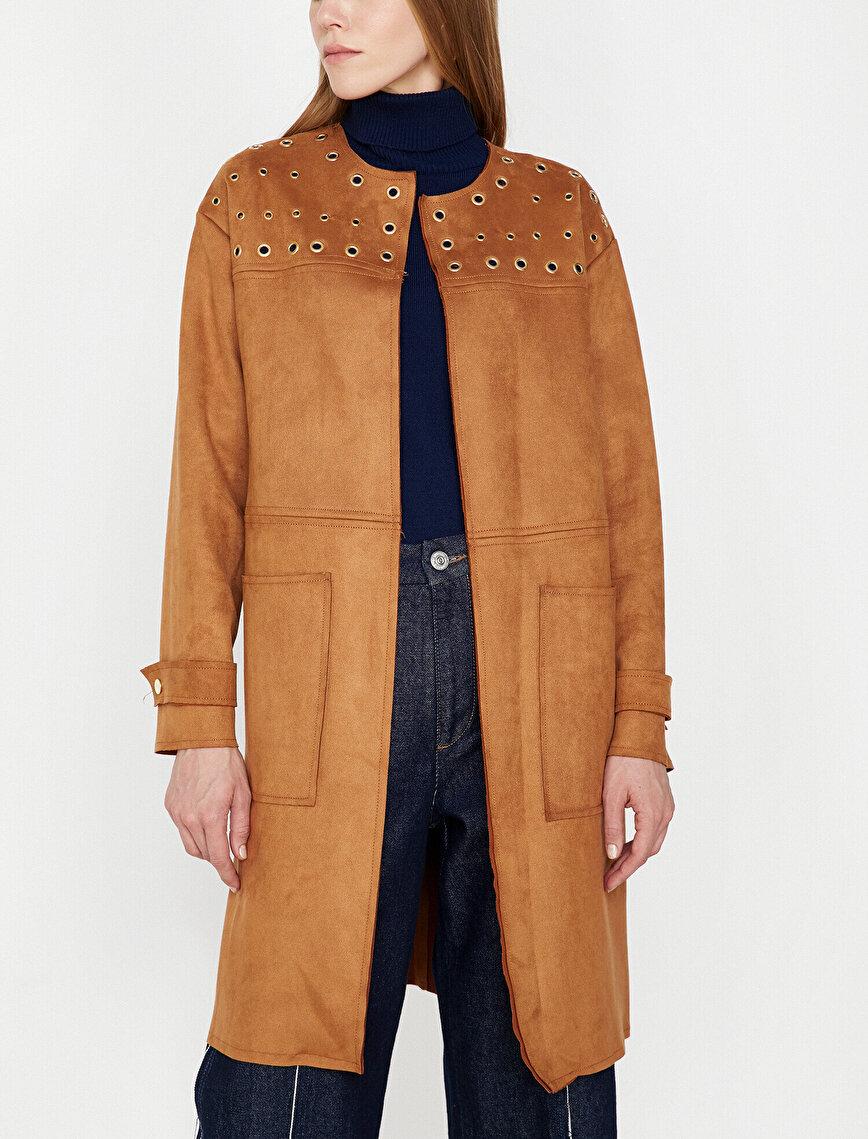 Suede Look Trenchcoat