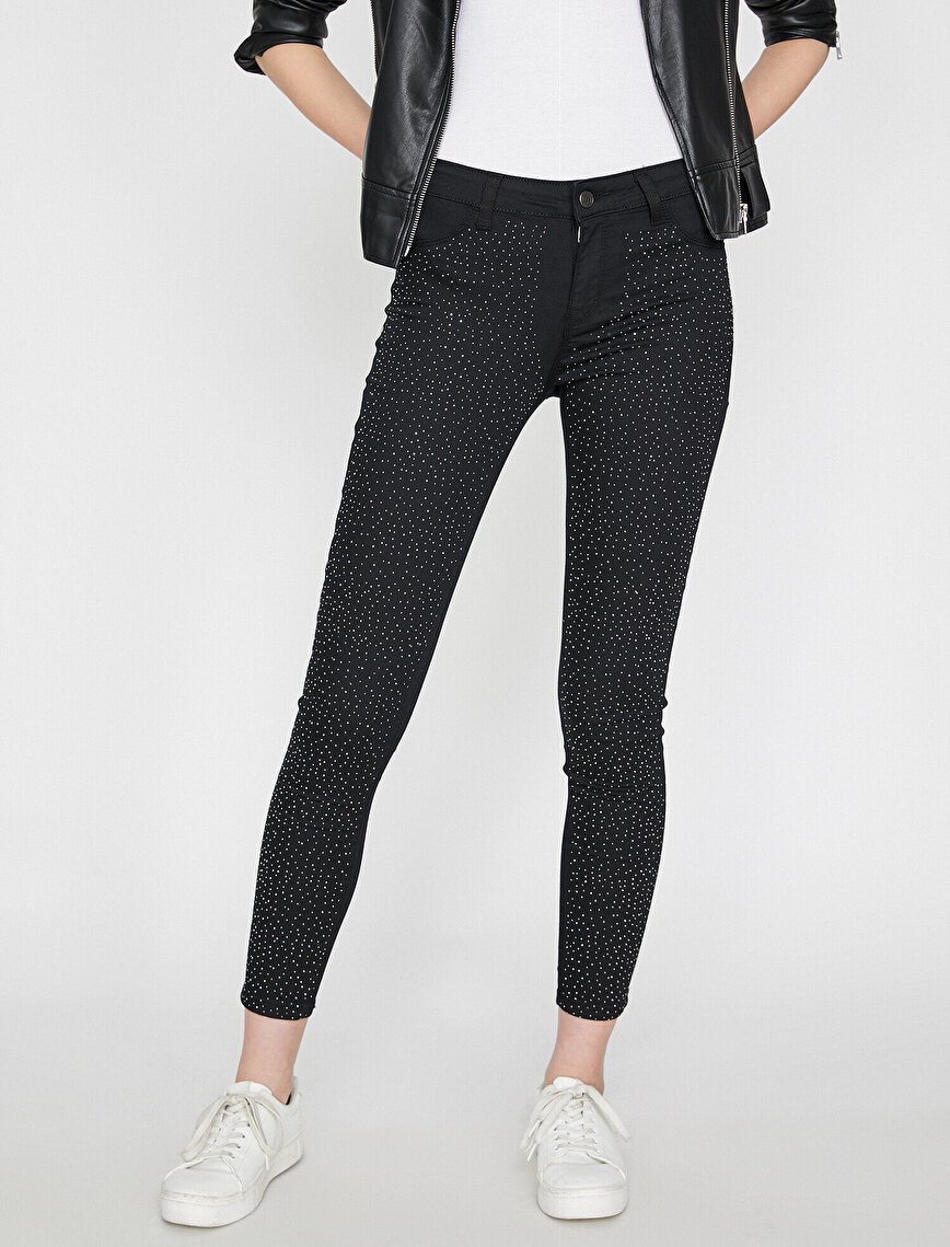 Stone Detailed Trousers