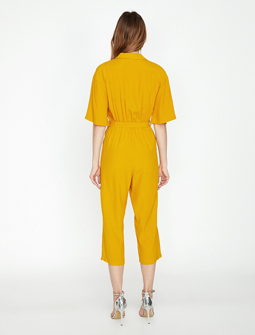 Button Detailed Jumpsuit