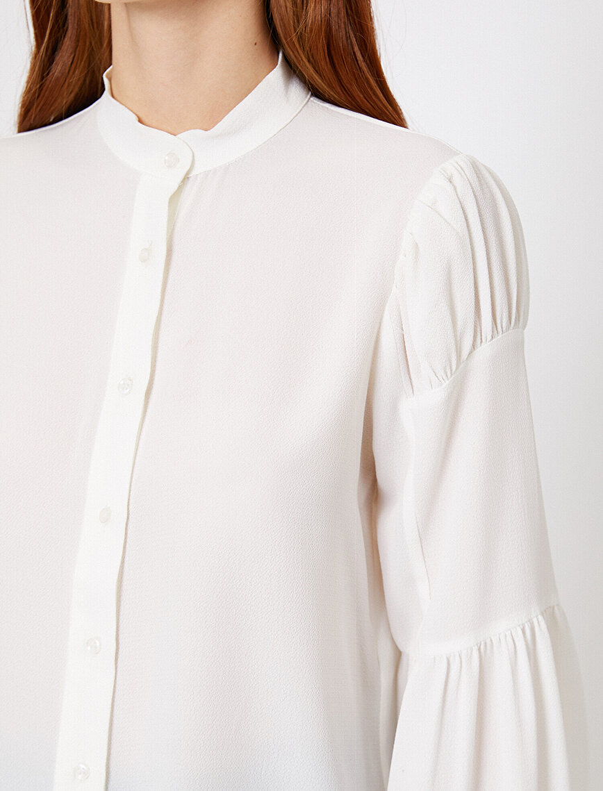 Sleeve Frilled Shirt