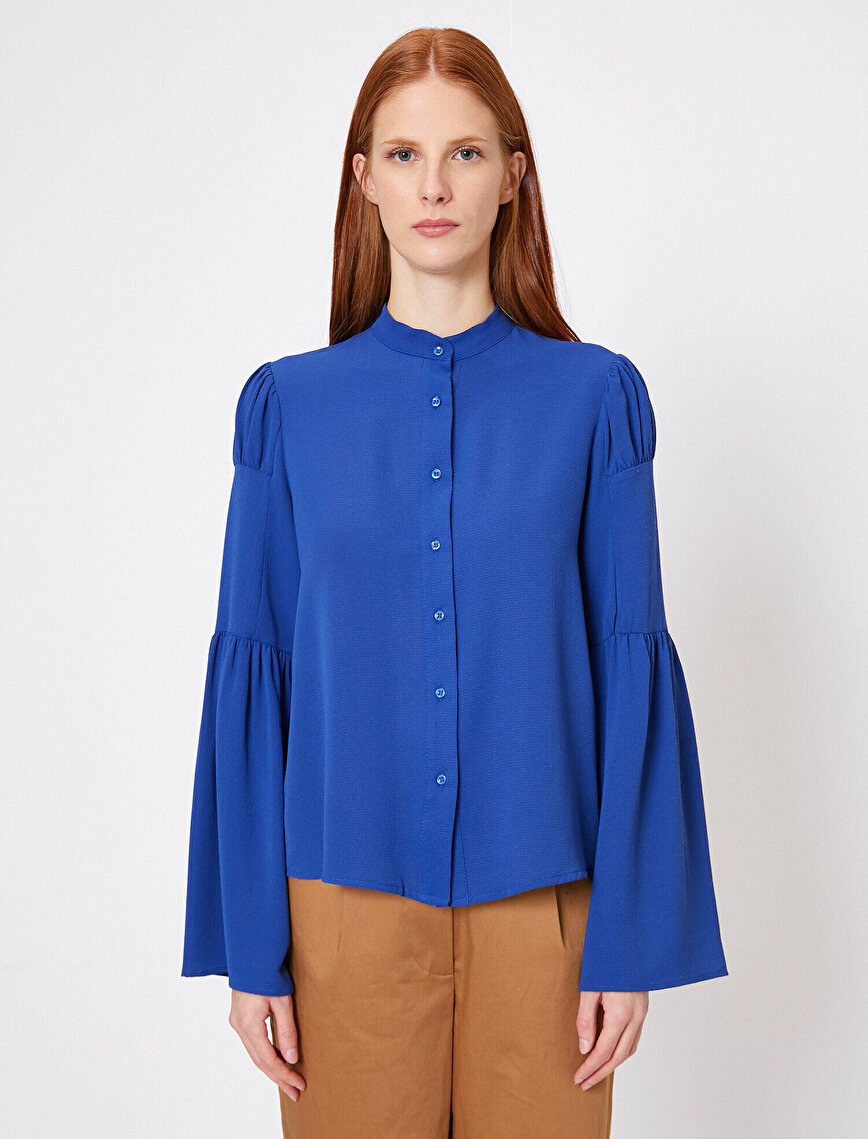 Sleeve Frilled Shirt
