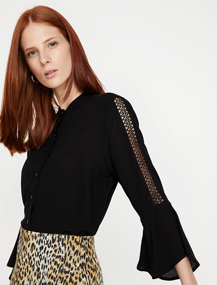 Sleeve Detailed Blouse