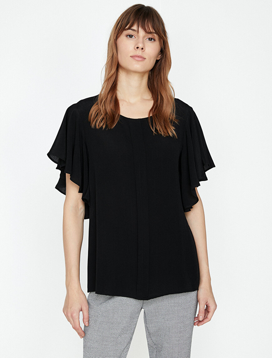 Fırfır Detaylı Bluz