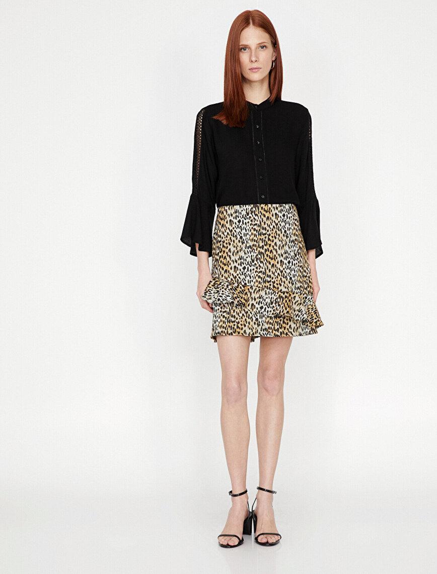 Leopard Patterned Skirt