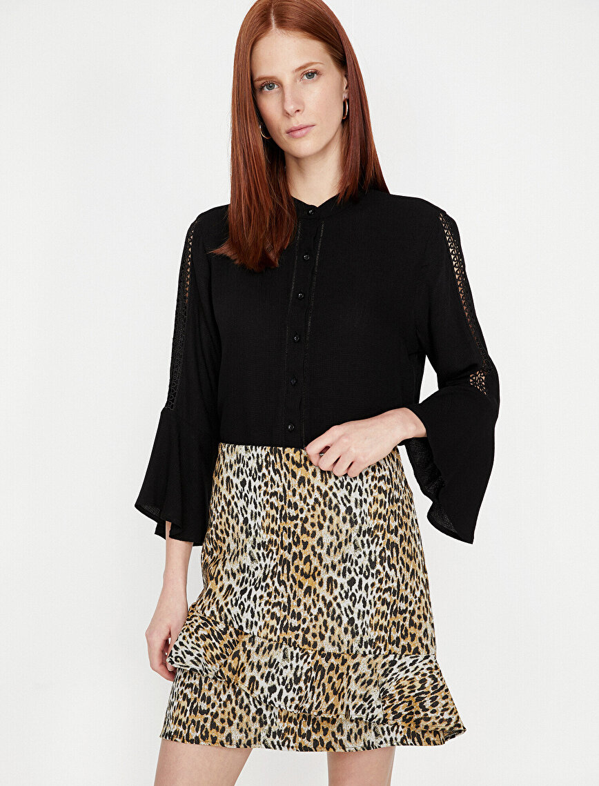 Leopard Patterned Skirt