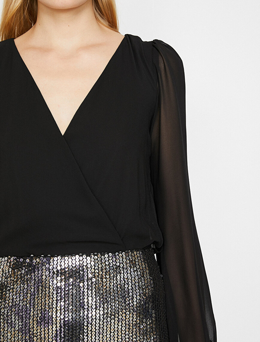 Sequin Detailed Dress