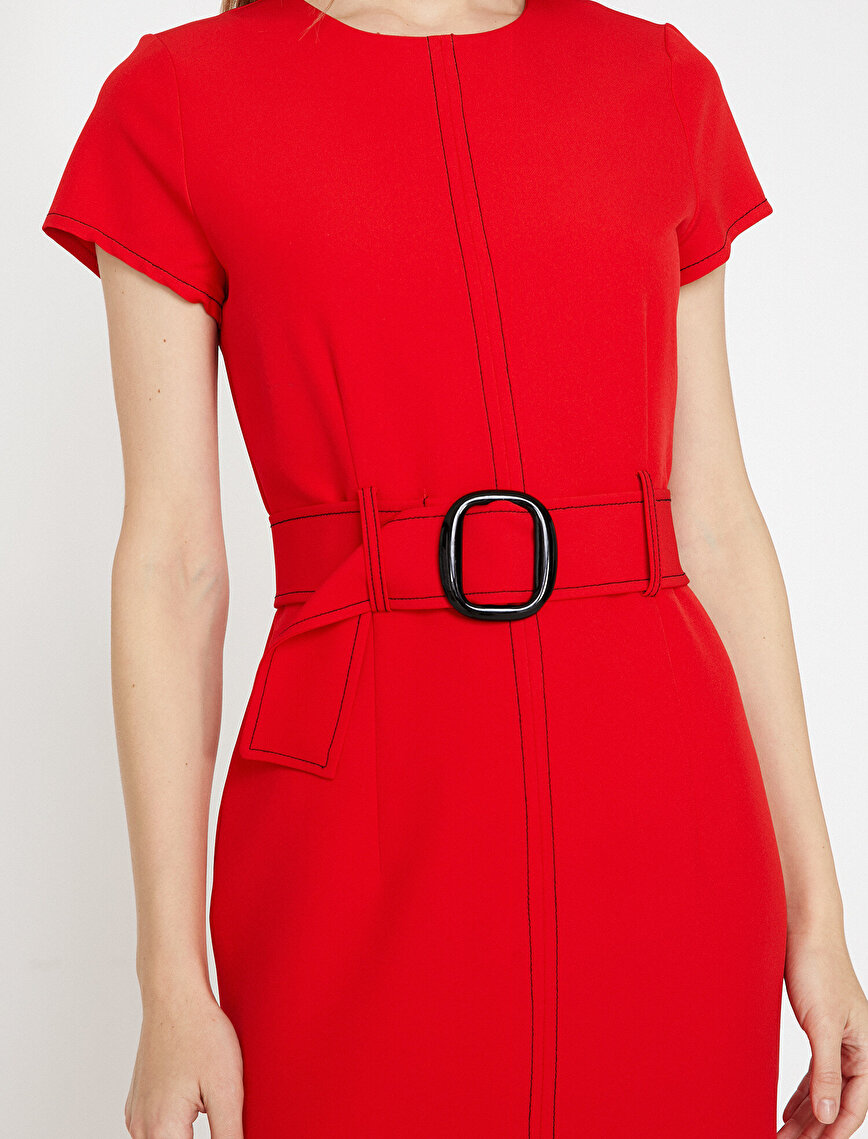 Belt Detailed Dress