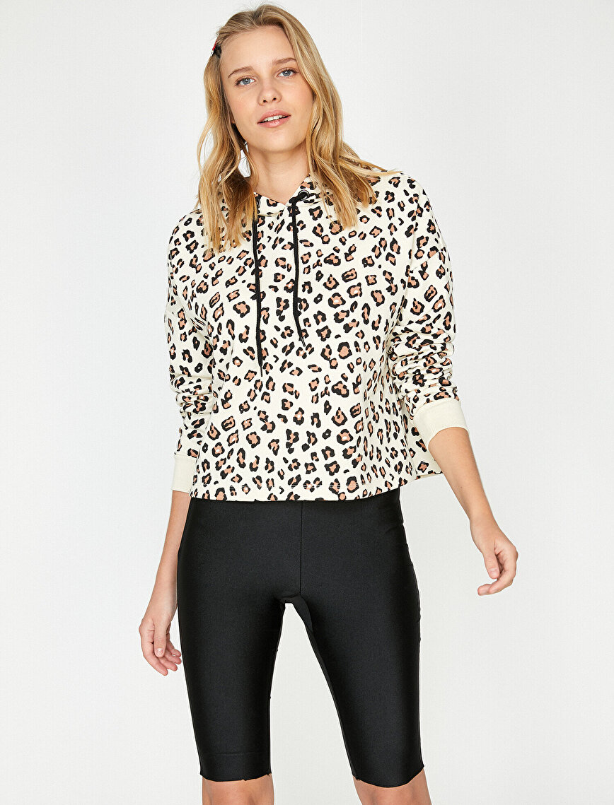Leopar Patterned Sweatshirt