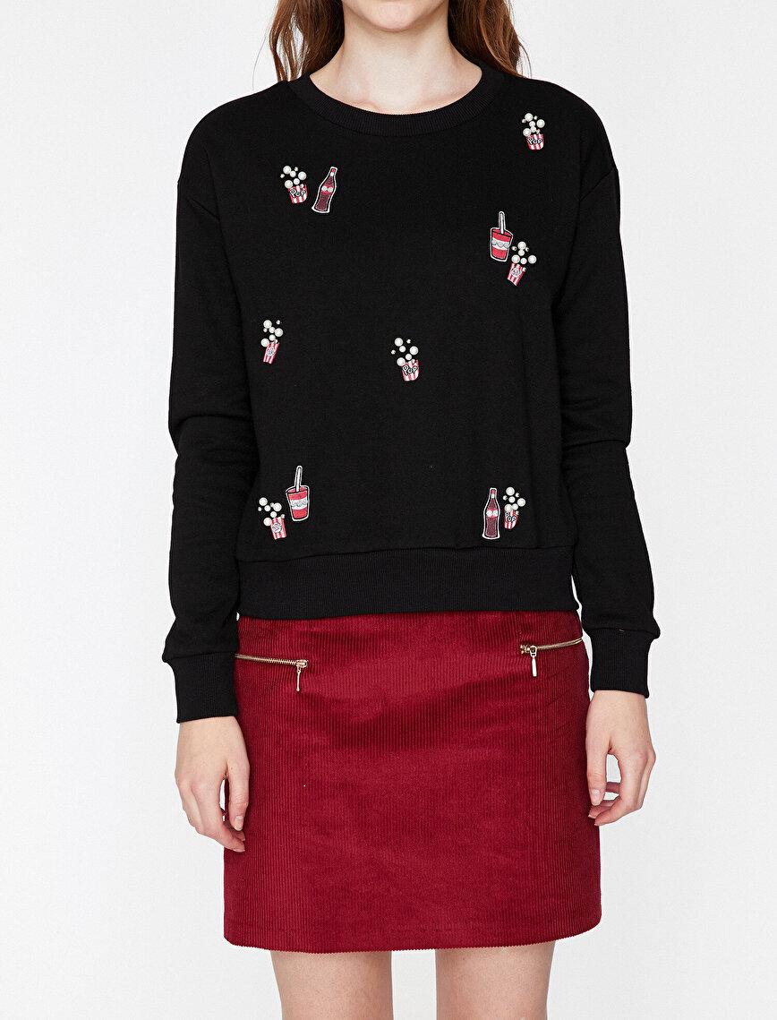 İnci Detaylı Sweatshirt