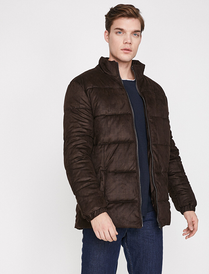 Pocket Detailed Puffer Coat
