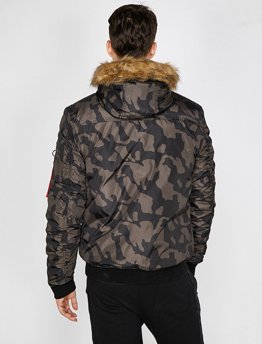 Camouflage Patterned Jacket
