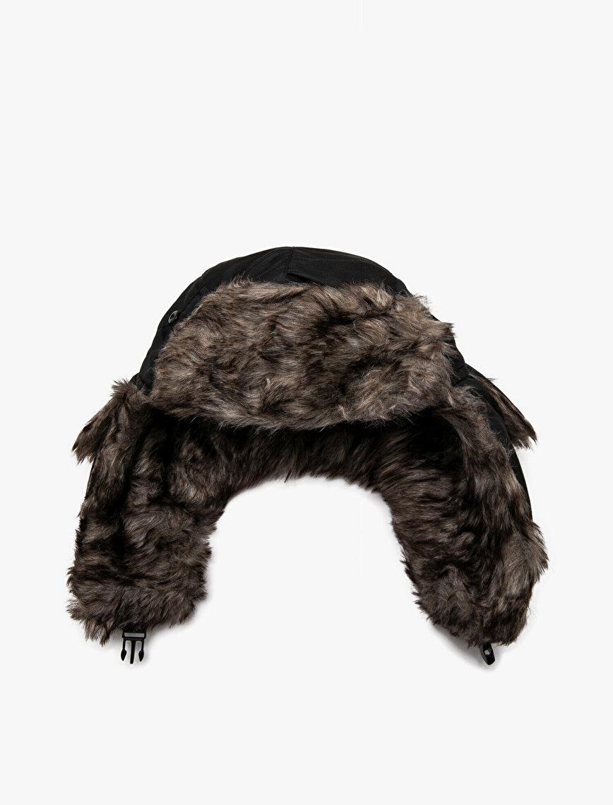 Suni Kürk Detaylı Şapka