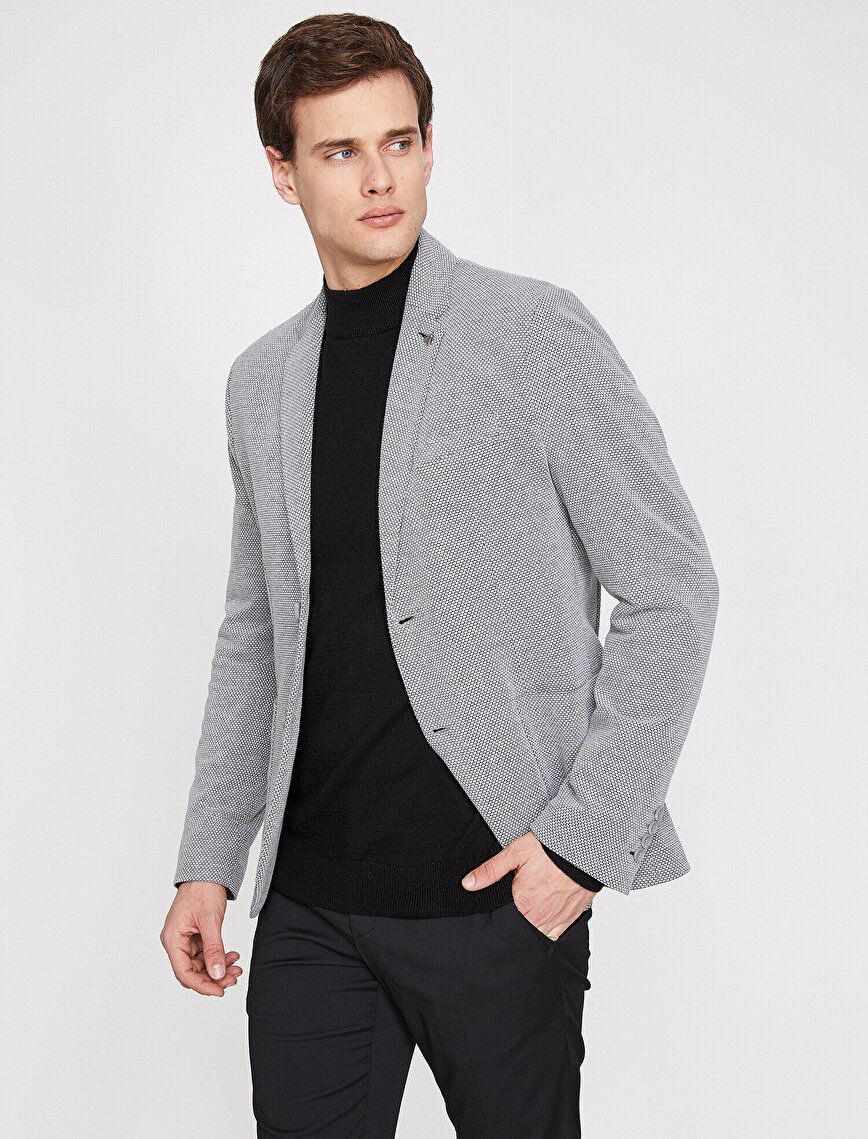 Check Blazer Jacket