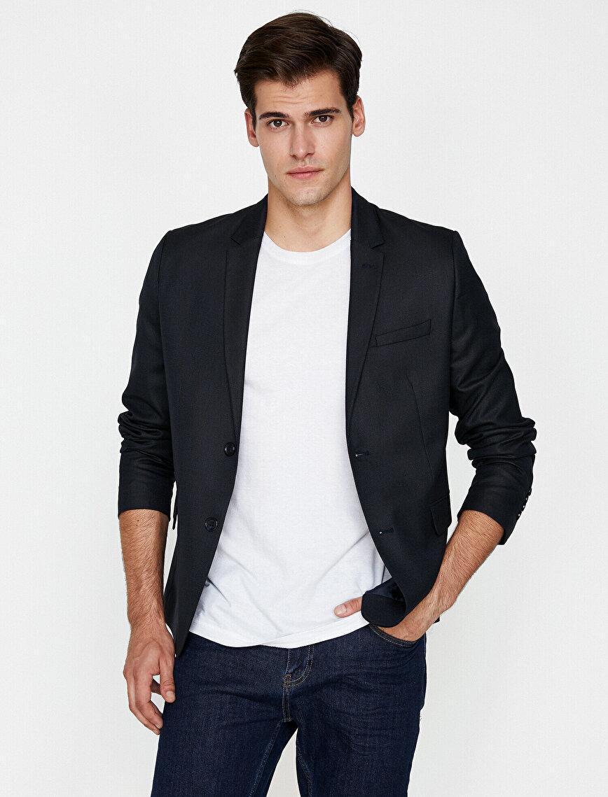 Cep Detaylı Blazer Ceket
