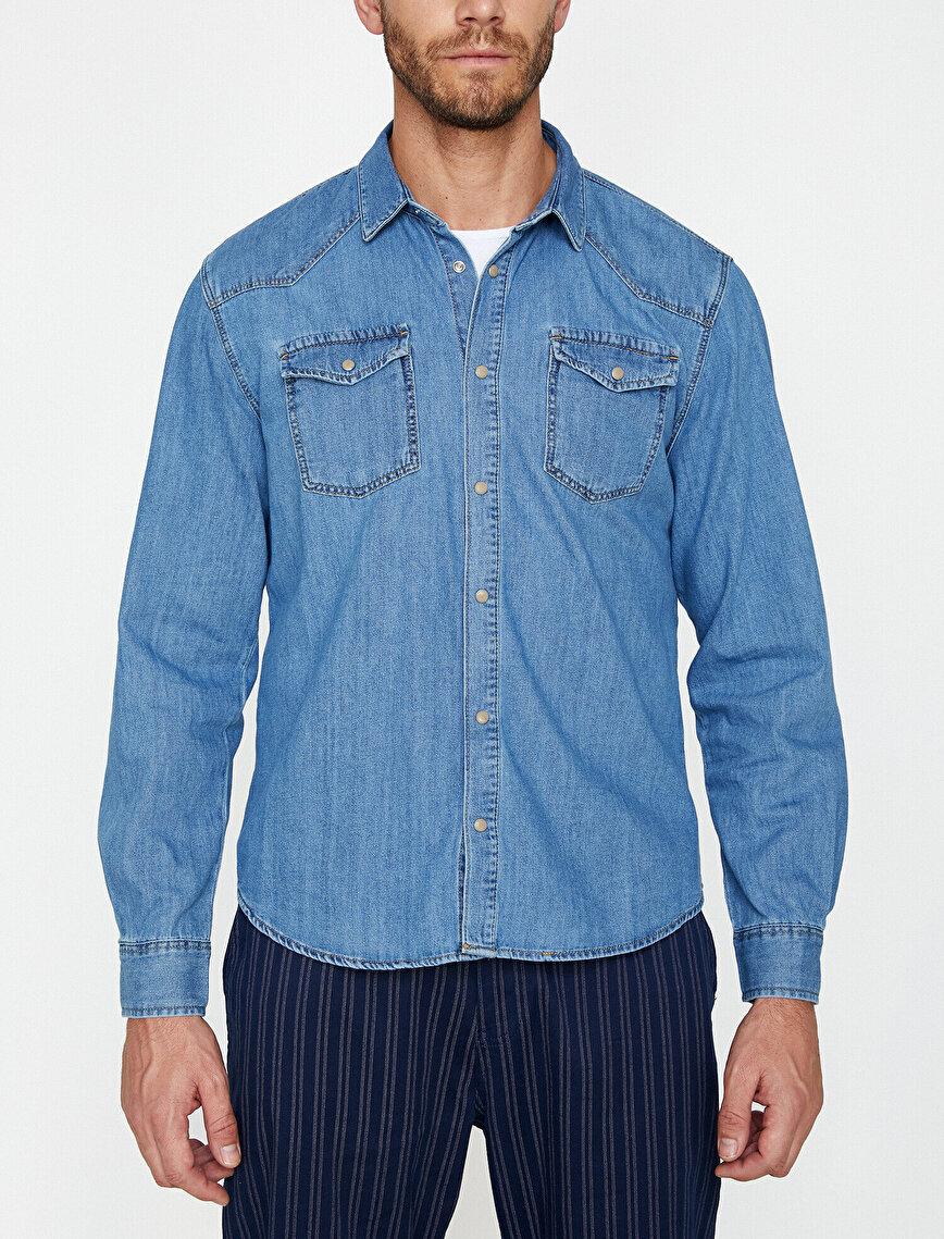 Classic Collar Jean Shirt