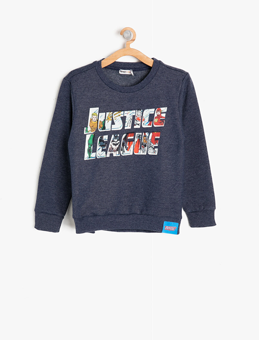 Licensed Letter Printed Sweatshirt