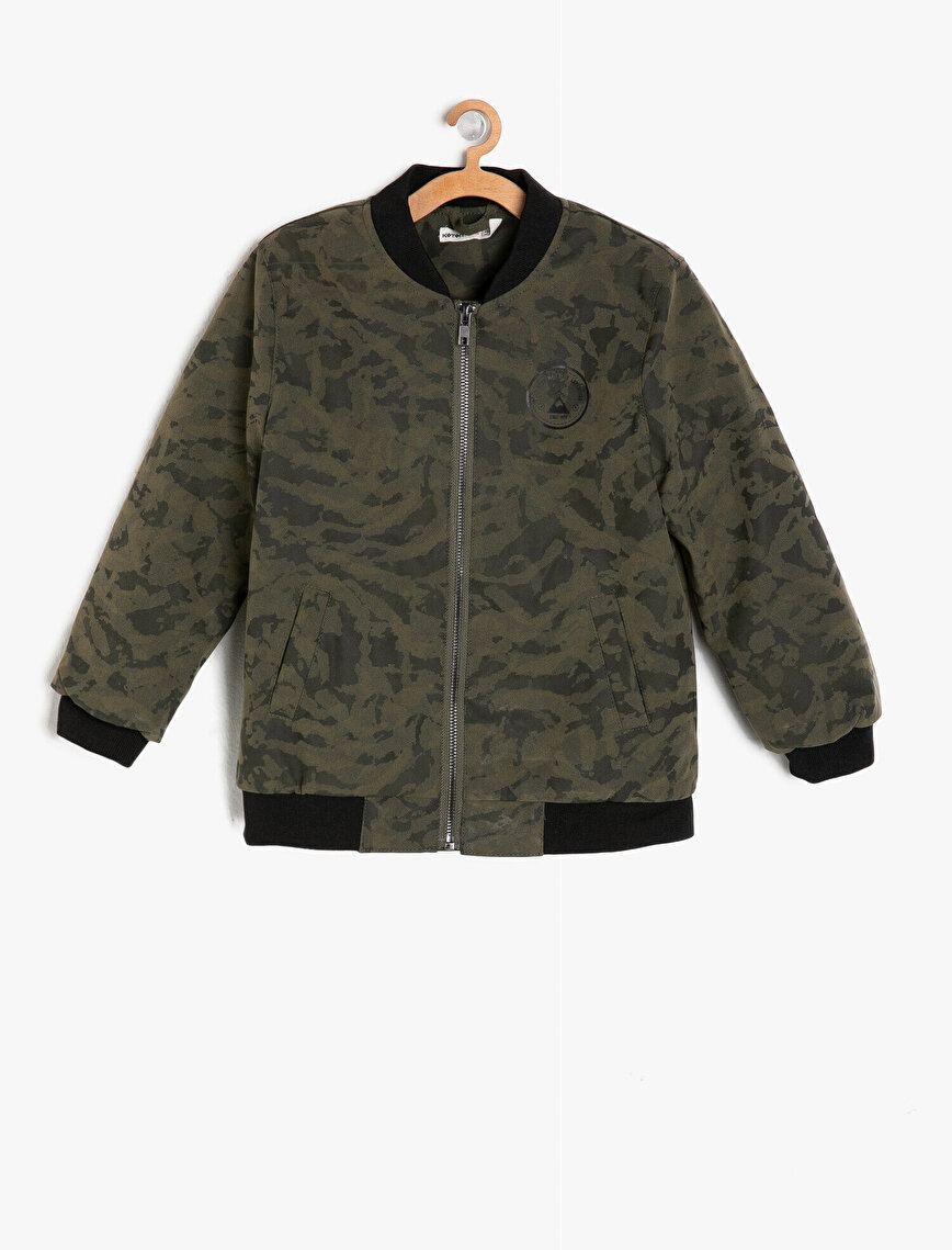 Camouflage Patterned Bomber Jackets