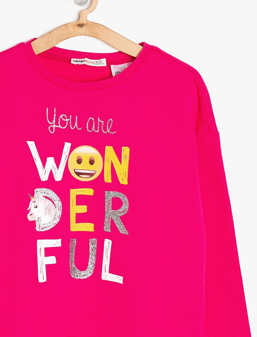 Emoji Lisanslı Baskılı Sweatshirt