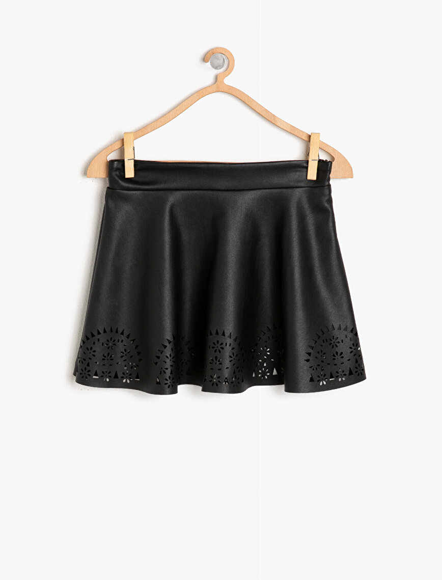 Leather Look Skirt