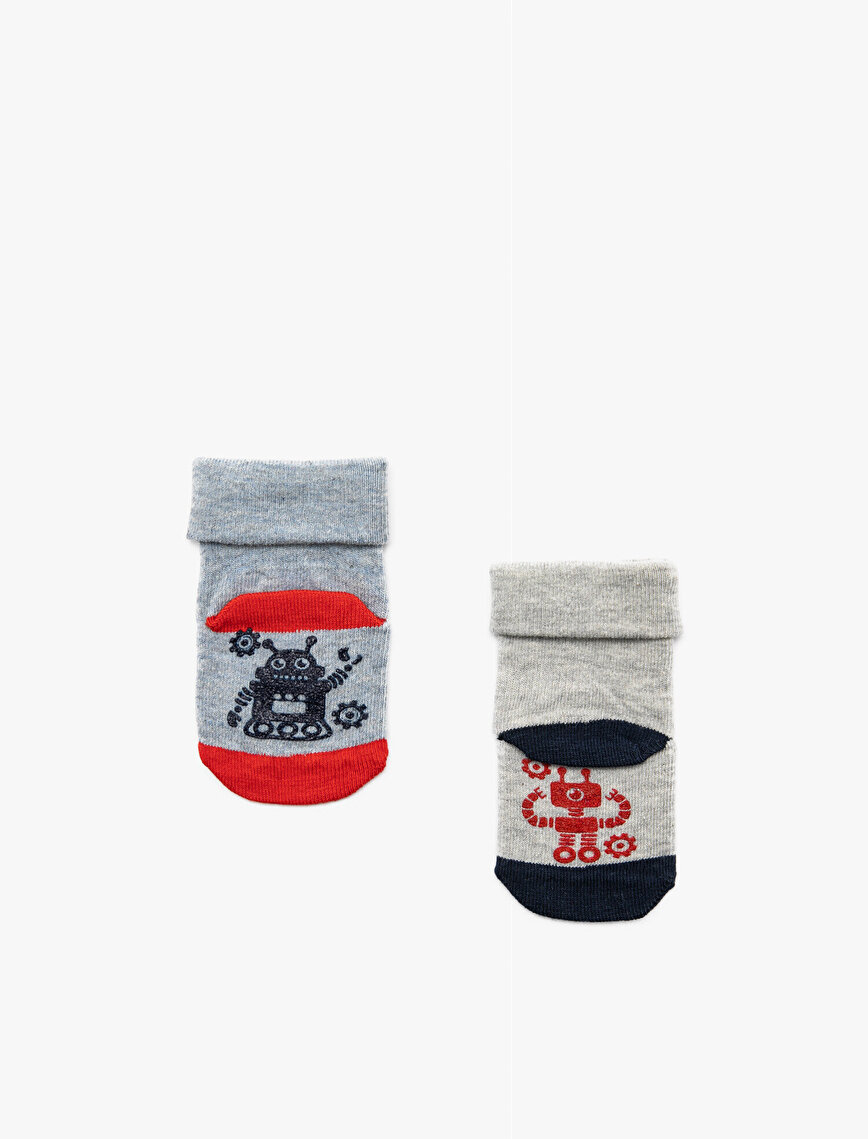 Erkek Bebek 2'li Çorap