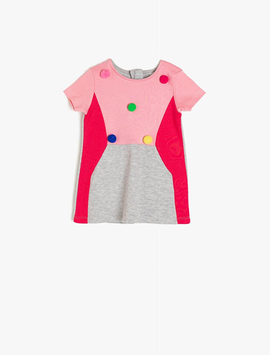 Renk Bloklu Elbise