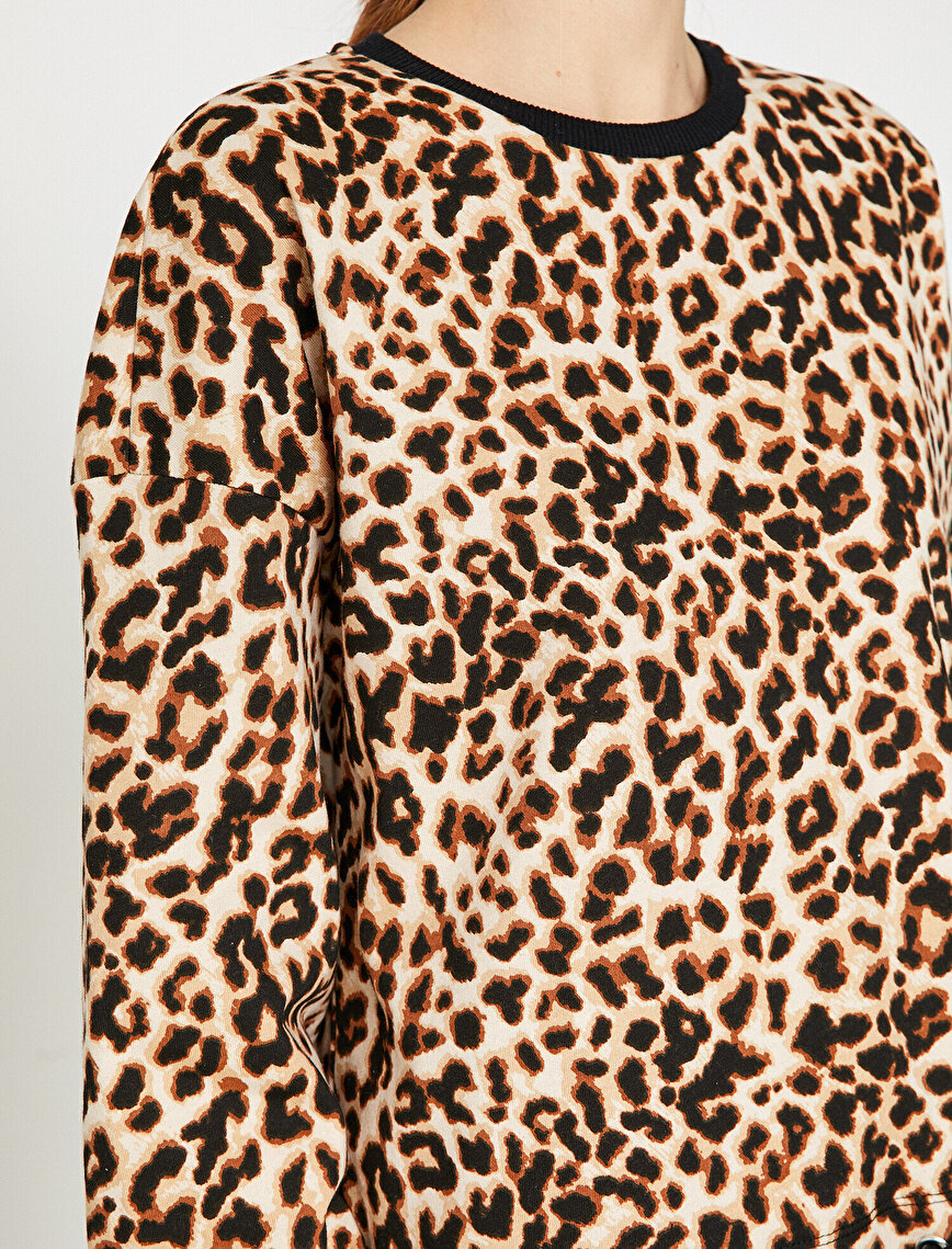 Leopard Patterned Sweatshirt