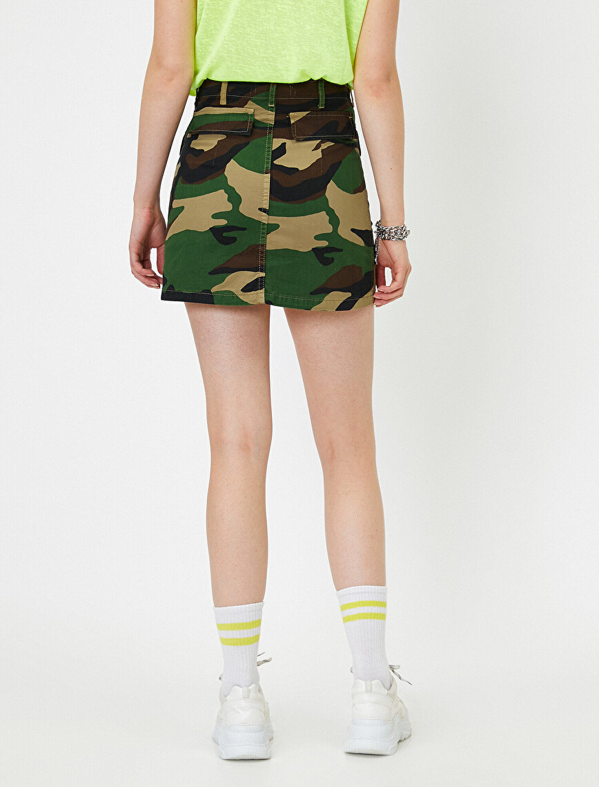 Camouflage Patterned Skirt