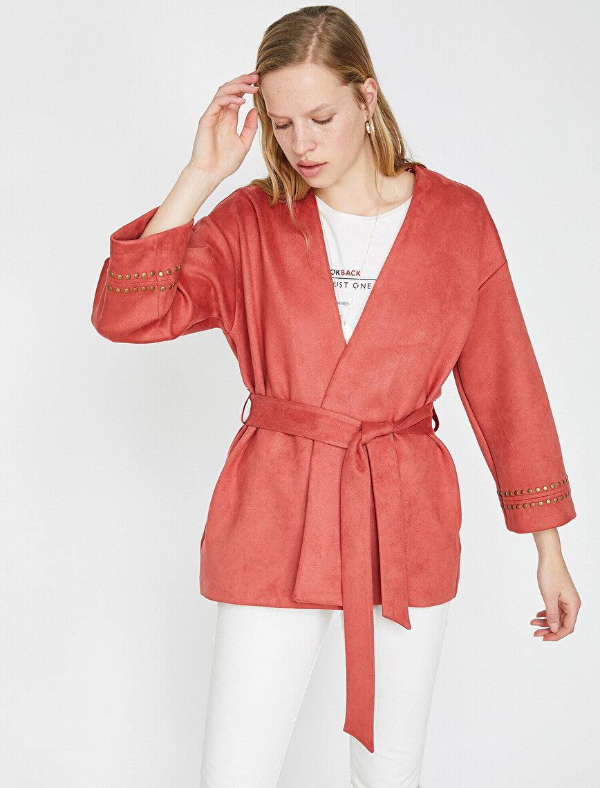 Zımba Detaylı Kimono