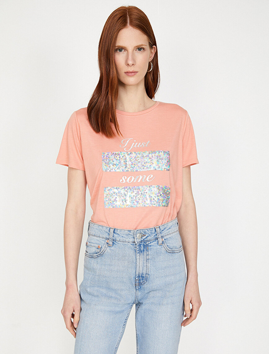 Sequin Detailed T-Shirt