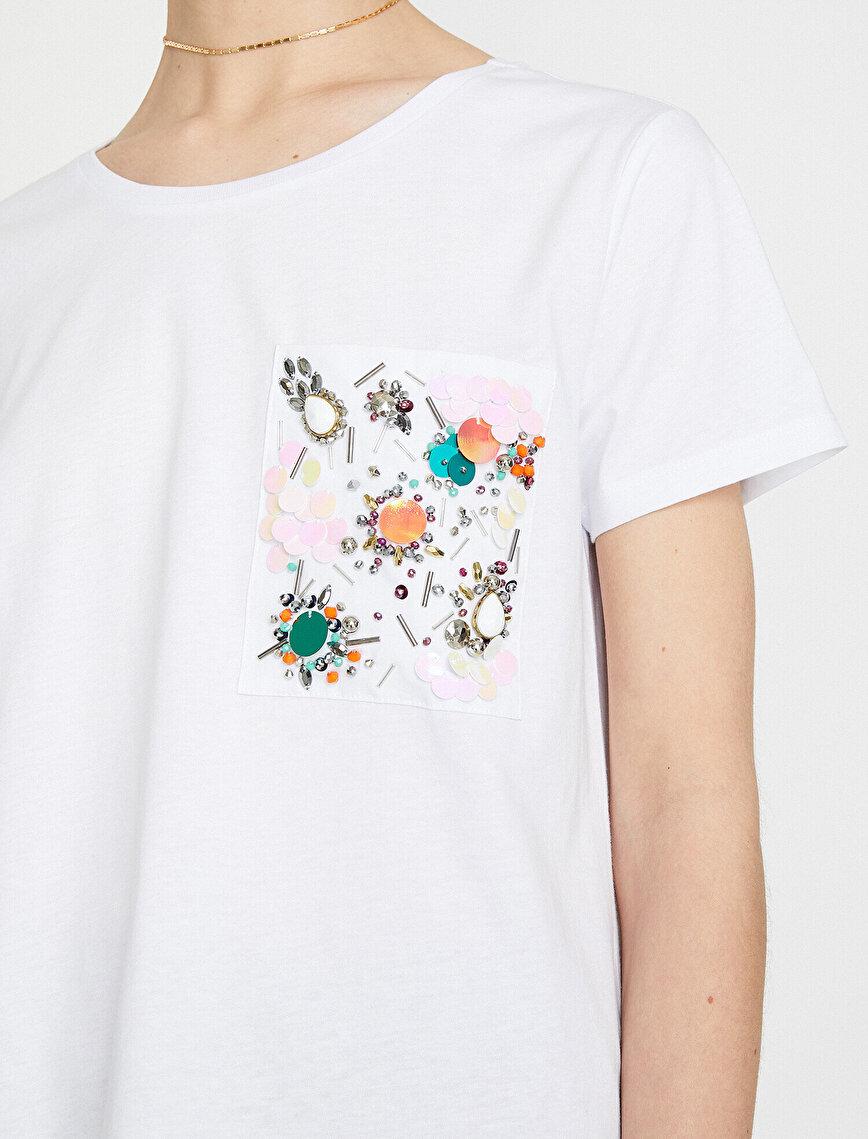 Sequin Detailed T-Shirt