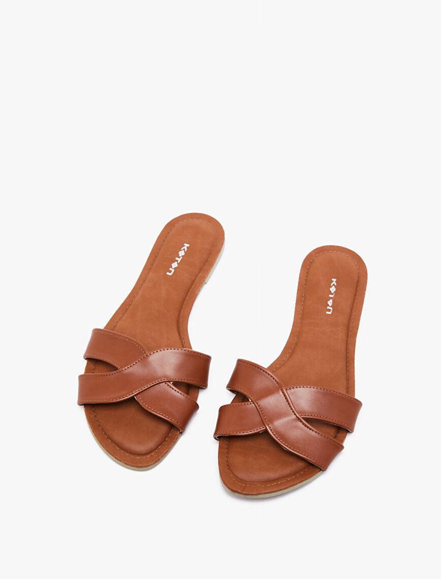 Leather Look Flip Flop