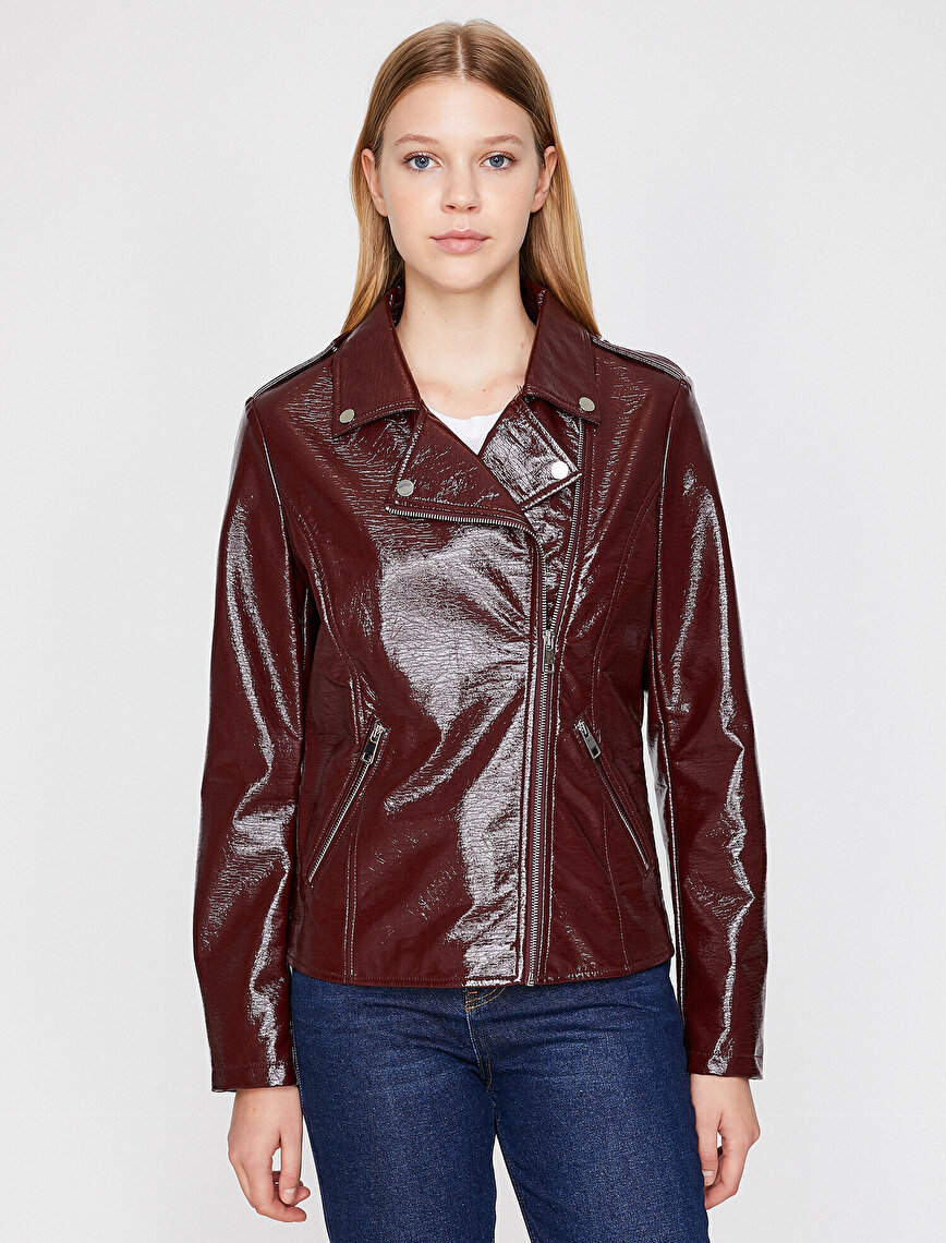 Leather Look Coat