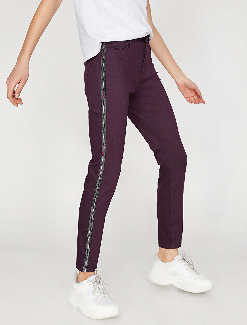 Şerit Detaylı Pantolon