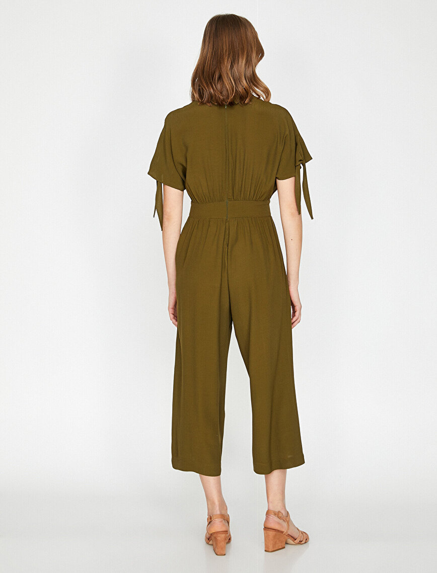 Neck Detailed Jumpsuits